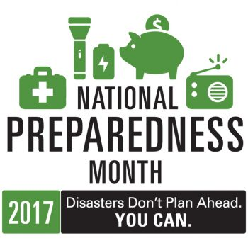 National Preparedness Month 2017. Disasters Don