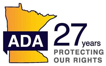 ADA 27th Anniversary Logo; with tagline: Protecting Our Rights