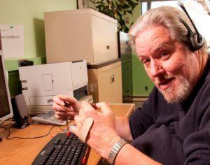 User typing using adaptive technology