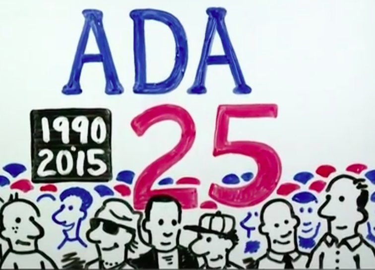 Screen grab from Celebrate 25 Years of the ADA