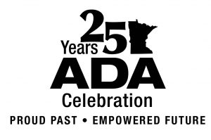 25 Years ADA Celebration: Proud Past, Empowered Future (black and white)