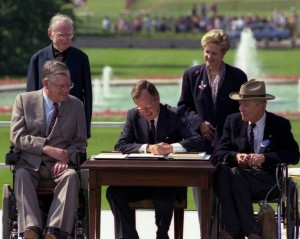 President George H. W. Bush signing the ADA
