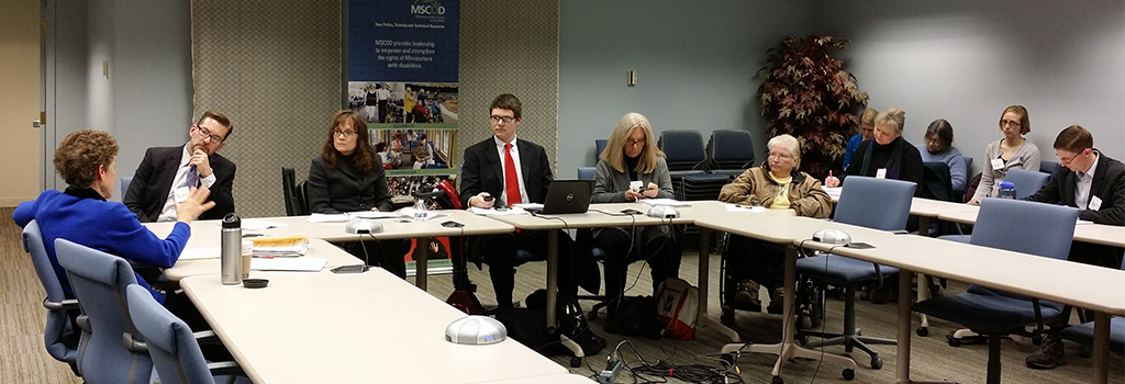 Senate members engage with disability community during the 2014 Legislative Forum