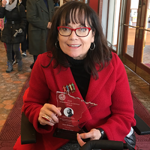 Joan Willshire, 2018 Commitment to Service award recipient