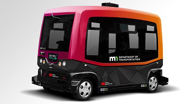 EasyMile driverless, electric bus