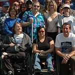 Margot Imdieke Cross with group of disability advocates
