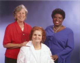 Sue Jamieson, Elaine Wilson, and Lois Curtis