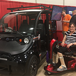 MCD Executive Director Joan Willshire with autonomous vehicle