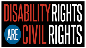 Logo: Disability Rights Are Civil Rights