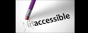 "pencil changing ""inaccessible"" to ""accessible"""