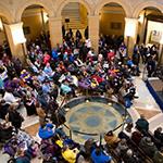 Disability advocates in the Capitol Rotunda