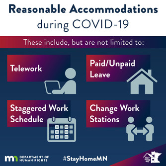 Reasonable accommodations during COVID-19. Refer to list for fuller description.
