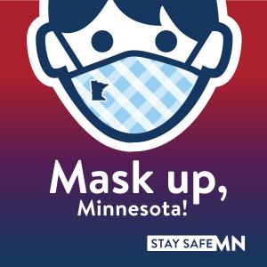 Mask up, Minnesota! logo