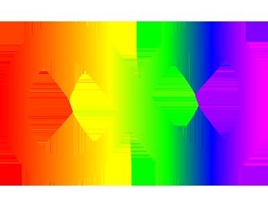 Rainbow-colored infinity symbol representing autism